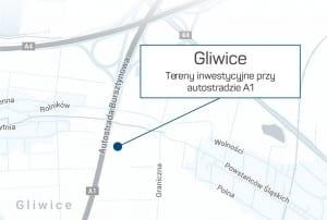 Tereny inwestycyjne zlokalizowane są w Gliwicach - Mapa